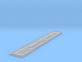 Nameplate USS West Virginia BB-48 (10 cm) in Smoothest Fine Detail Plastic