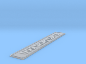 Nameplate USS Idaho BB-42 (10 cm) in Smoothest Fine Detail Plastic