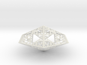 Sierpinski Diamond in White Natural Versatile Plastic