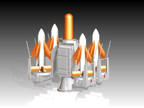 Seacat Launcher Kit 1/64 in Smooth Fine Detail Plastic