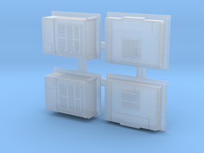 Cab Air Condition units HO scale in Smoothest Fine Detail Plastic