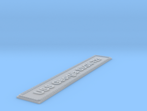 Nameplate USS Georgia SSGN-729 (10 cm) in Smoothest Fine Detail Plastic