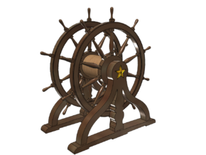 1/72 Ship Wheel (Helm) for USS Constitution in Smoothest Fine Detail Plastic