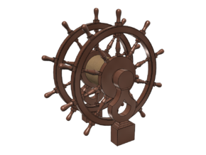 1/64 Ship's Wheel (Helm) for Frigates, Sloops, etc in Smoothest Fine Detail Plastic