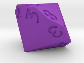 Dozenal d12 [d14]  in Purple Processed Versatile Plastic