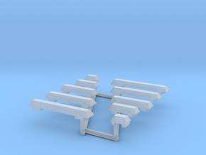 1/64th Wedge Shaped Emergency Light Bar Set in Smooth Fine Detail Plastic