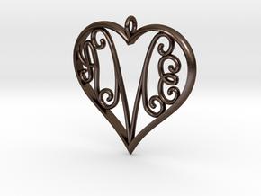 AEM inside Heart in Polished Bronze Steel
