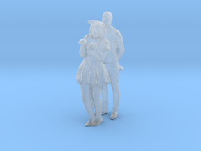 Printle C Couple 551 - 1/87 - wob in Smooth Fine Detail Plastic
