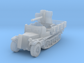 Sdkfz 10/4 B Flak 38 Armoured 1/144 in Smooth Fine Detail Plastic