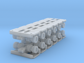 Goldhofer SPMT Modular Trailer (x2) 1/220 in Smooth Fine Detail Plastic
