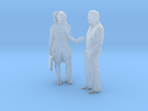 Printle C Couple 554 - 1/87 - wob in Smooth Fine Detail Plastic
