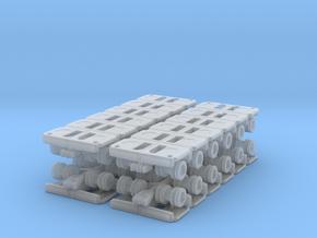 Goldhofer SPMT Modular Trailer (x4) 1/350 in Smooth Fine Detail Plastic