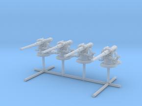 1/240 USN 4 inch 50 (10.2 cm) Gun Deck Set x4 in Smooth Fine Detail Plastic