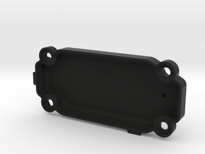 RC10GT receiver box cover in Black Natural Versatile Plastic