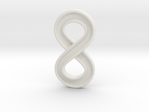 Infinity (small) in White Natural Versatile Plastic