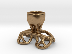 Arc Candle Holder (single) in Natural Brass