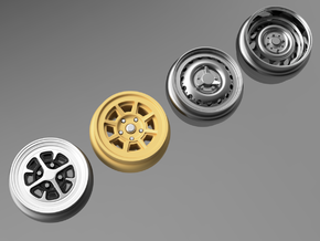 1/64 scale Wheel Multi Pack C - Euro in Smoothest Fine Detail Plastic