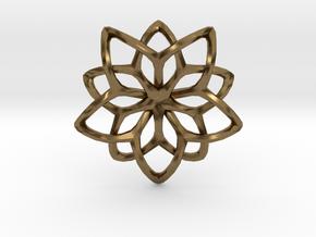 Flower Loops Single in Natural Bronze