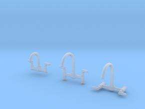 1:24 Faucet Trio in Smooth Fine Detail Plastic