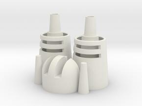 Desert Dweller Head Pieces in White Natural Versatile Plastic