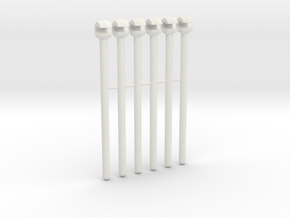 Mammoth handrail struts v1 in White Natural Versatile Plastic