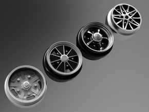 1/64 scale Wheel Multi Pack F - Empi/VW in Smoothest Fine Detail Plastic