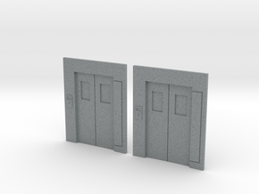 B-03 Lift Entrances - Type 3 (Pair) in Polished Metallic Plastic