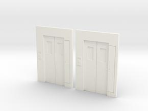 B-02 Lift Entrances - Type 2 (Pair) in White Processed Versatile Plastic