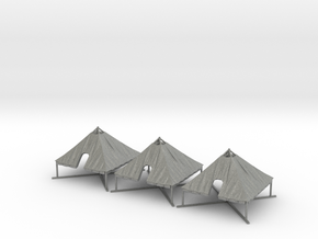 1/144 WWII US M1934 Tent Opened 3 pcs. Value Pack in Gray PA12