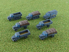 German KHD Truck Variants 1/285  in Smooth Fine Detail Plastic