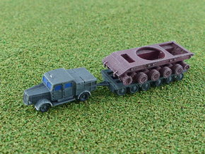 Faun ZR Tractor w. Culemeyer & E100 Hull 1/285 in Smooth Fine Detail Plastic