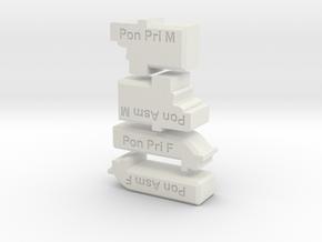 Pontos Deck Bench Tool Kit in White Natural Versatile Plastic