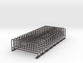 Barrier 01 (portable fence). Scale HO (1:87) in Polished Nickel Steel