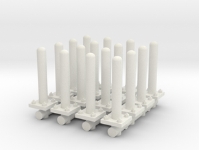 Safety Poles (x16) 1/64 in White Natural Versatile Plastic