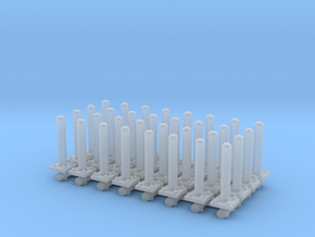 Safety Poles (x32) 1/120 in Smooth Fine Detail Plastic