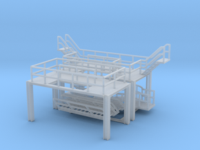 N Refinery Stairs For 2x Spherical Tank 137m3 in Smooth Fine Detail Plastic