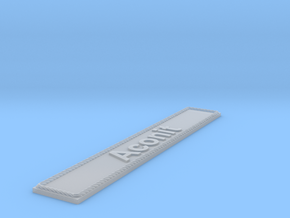 Nameplate Aconit in Smoothest Fine Detail Plastic