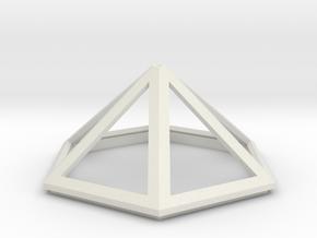 Sarah's Music Box - Roof Piece in White Natural Versatile Plastic