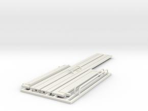 Office Door 1:12 scale in White Natural Versatile Plastic: 1:12