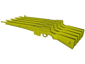1/15 scale MAS-49 rifles x 5 in Smooth Fine Detail Plastic