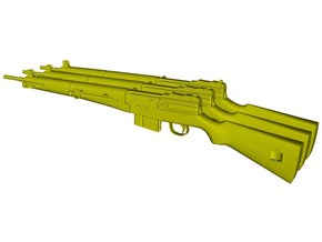 1/16 scale MAS-49 rifles x 3 in Smooth Fine Detail Plastic