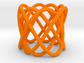 Knot bracelet in Orange Processed Versatile Plastic