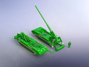 2S7 Pion 203mm SPG 1/200 in Smooth Fine Detail Plastic
