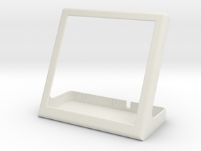 Enclosure for pimoroni HyperPixel and raspberry pi in White Natural Versatile Plastic