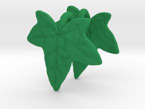 Ivy Leaf Earrings (pair) in Green Processed Versatile Plastic