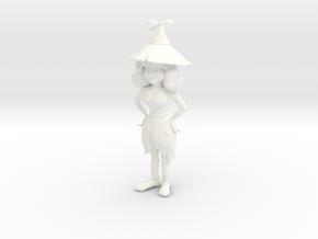 Spritina Figurine in White Processed Versatile Plastic