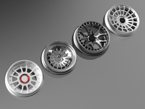 1/64 scale Wheel Multi Pack I - Rotiform in Smoothest Fine Detail Plastic