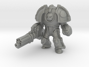 Saturn Terminator Assault Cannon miniature games in Gray PA12