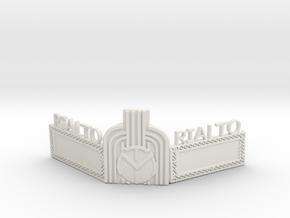 Rialto Marquee HO Scale in White Premium Versatile Plastic