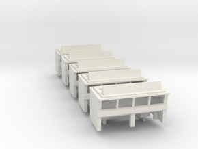 Formula D Pit buildings in White Natural Versatile Plastic